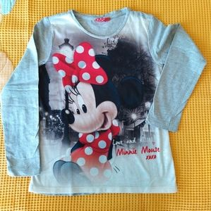 DISNEY Minnie Mouse girls' Long Sleeve Shirt